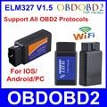 Горячая! последняя Версия ELM327 WI-FI OBD2/OBDII Автоматический Диагностический Сканер Инструмент ELM 327 WiFi свободный корабль wi-fi obd2 elm327, wi-fi elm327