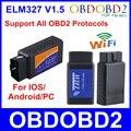 Hot! Versão mais recente ELM327 WIFI OBD2/OBDII Auto Scanner Ferramenta de Diagnóstico ELM 327 WiFi navio livre wifi obd2 elm327, wi-fi elm327
