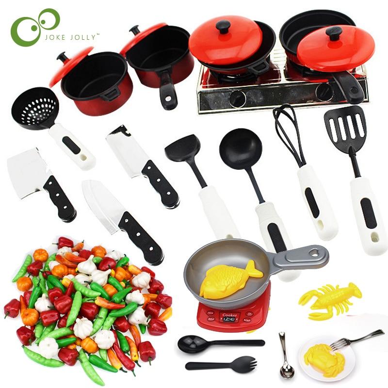 US $4.98 |Children Mini Kitchen Cookware Pot Pan Kids Pretend Cook Play Toy  Simulation Vegetables Kitchen Cooking Utensils Toys Set GYH-in Kitchen ...