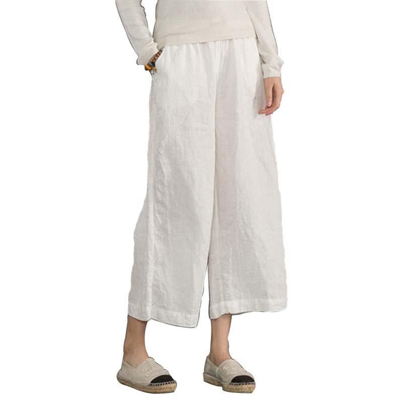 Popular White Linen Wide Leg Pants-Buy Cheap White Linen Wide Leg ...