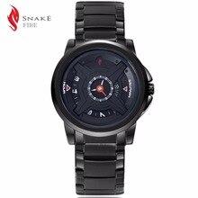 Marca de lujo de Acero Inoxidable Pantalla Analógica Ejército Girando el dial de Reloj de Cuarzo de Los Hombres Casual Sport Reloj de Los Hombres relogio masculino