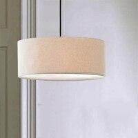 modern Fabric Pendant Lights Lampshades Hanging Lamp For Dining pendant lamp Suspension Bar hanging Lamps Wood Kitchen Lighting