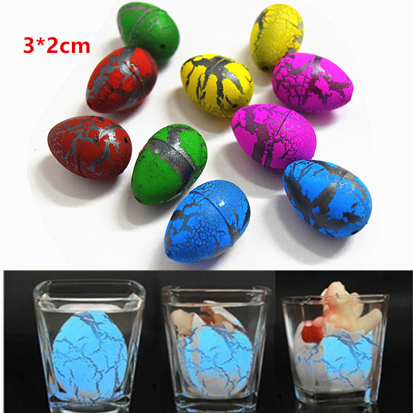 Купить с кэшбэком 5 Pcs/Set Magic Hatching Growing Dinosaur Eggs Water Grow For Children Toys Gift 3X2cm happy Easter Eggs