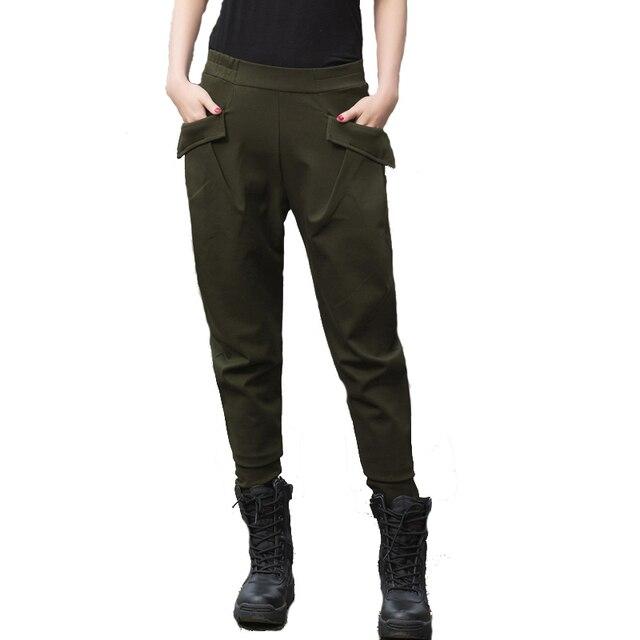 Losse Joggingbroek Dames.Mode Dames Katoen Militaire Leger Harembroek Vrouwen Combat