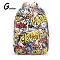 Girls Women unisex men Cartoon Canvas Backpacks mochila School Bags for Teenagers letter Graffiti Printing rucksack mini small
