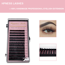 HPNESS Eyelash Extension 3D Individual Eye Lashes 100% Hand Made All Sizes 8-15 mm Mixed Length in One Tray