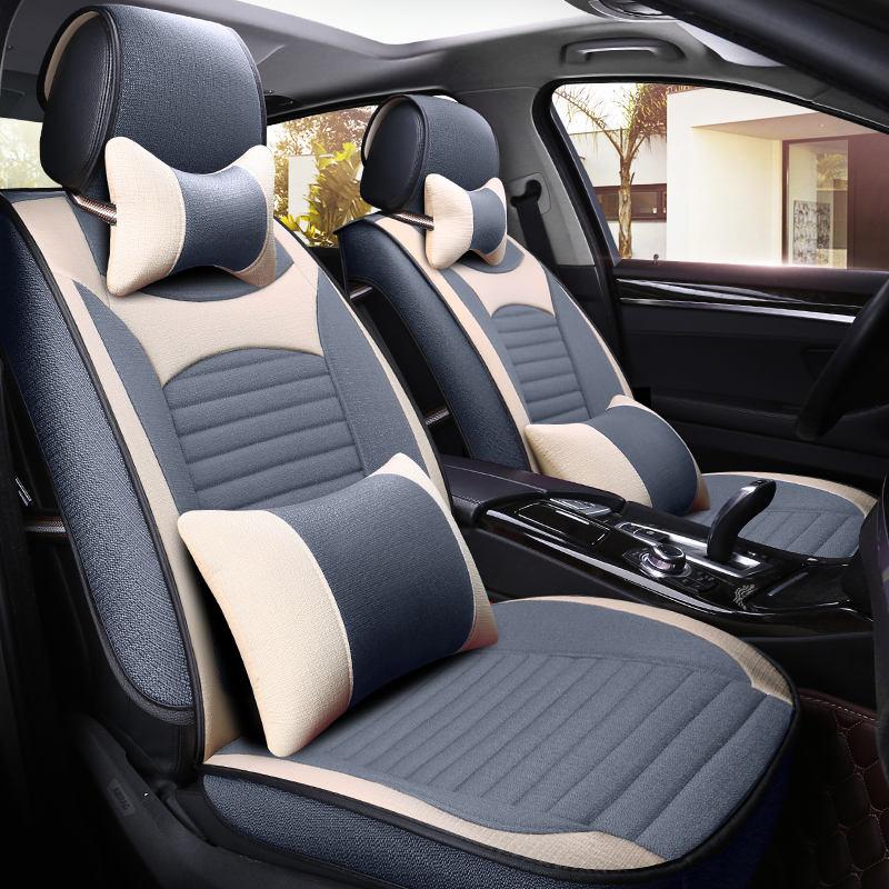 Новый роскошный 4-цвет автомобиля подушки, четыре сезона льна сиденья, передние и задние соответствия, подходит для автомобиля спортивный а...