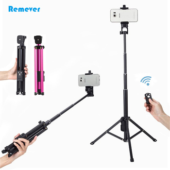 Mini wireless Bluetooth Selfie Stick With Tripod Extendable Universal Monopod For Gopro Action Camera iphones Samsung Huawei image