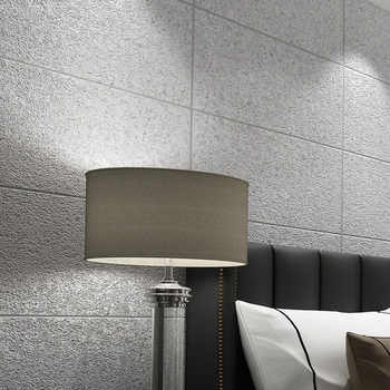 Modern Simple 3D Imitation Marble Tiles Lattice Wallpaper Bedroom Living Room TV Backdrop Flocking Non-woven Striped Wall Paper - DISCOUNT ITEM  37% OFF All Category