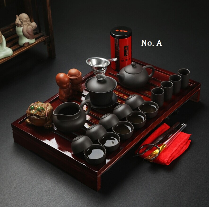 Free Shipping Hot Sale Ceramic Purple Clay Tea Set Kung Fu