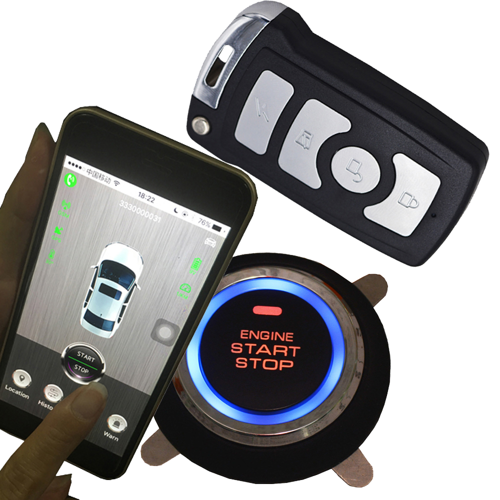 3G net smart phone app remote start car alarm system auto central lock gps real time online location keyless auto central lock-in Burglar Alarm from Automobiles & Motorcycles    1