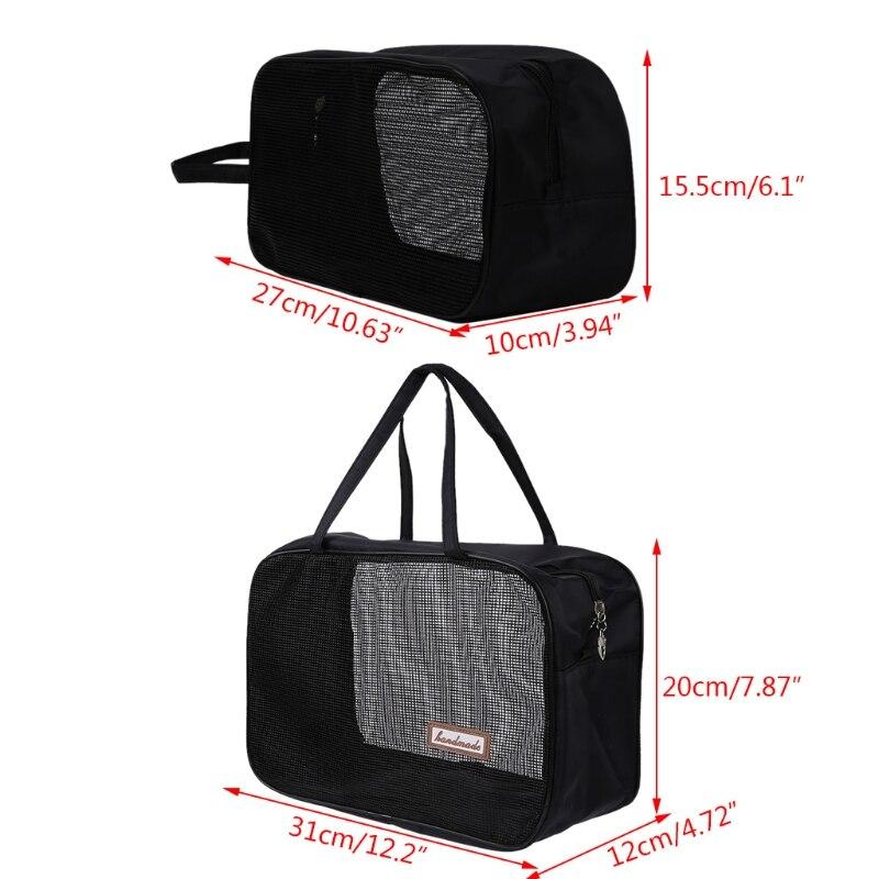 THINKTHENDO Portable Bathing Bag Mesh Shower Toiletry Pouch Travel Makeup Storage Holder