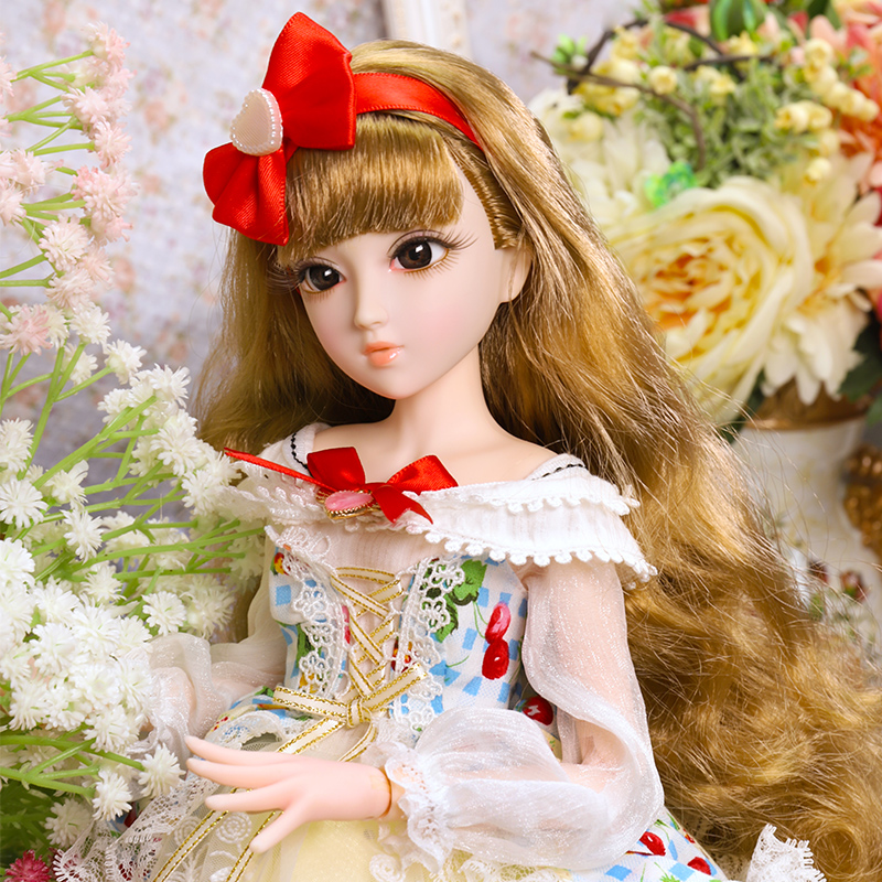 1/4 Bjd Doll Full Set 45cm Princess SNOW Girl Dolls 14 Jointed Classical Court Beauty Action Figure Girls Toys Birthday Gift