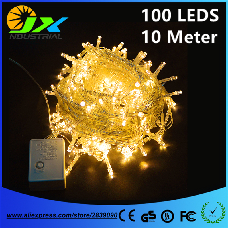 AC110V 220V 10 meter 100Leds string light waterproof holiday led lighting with controller 8 modes EU/US plug outdoor decoration