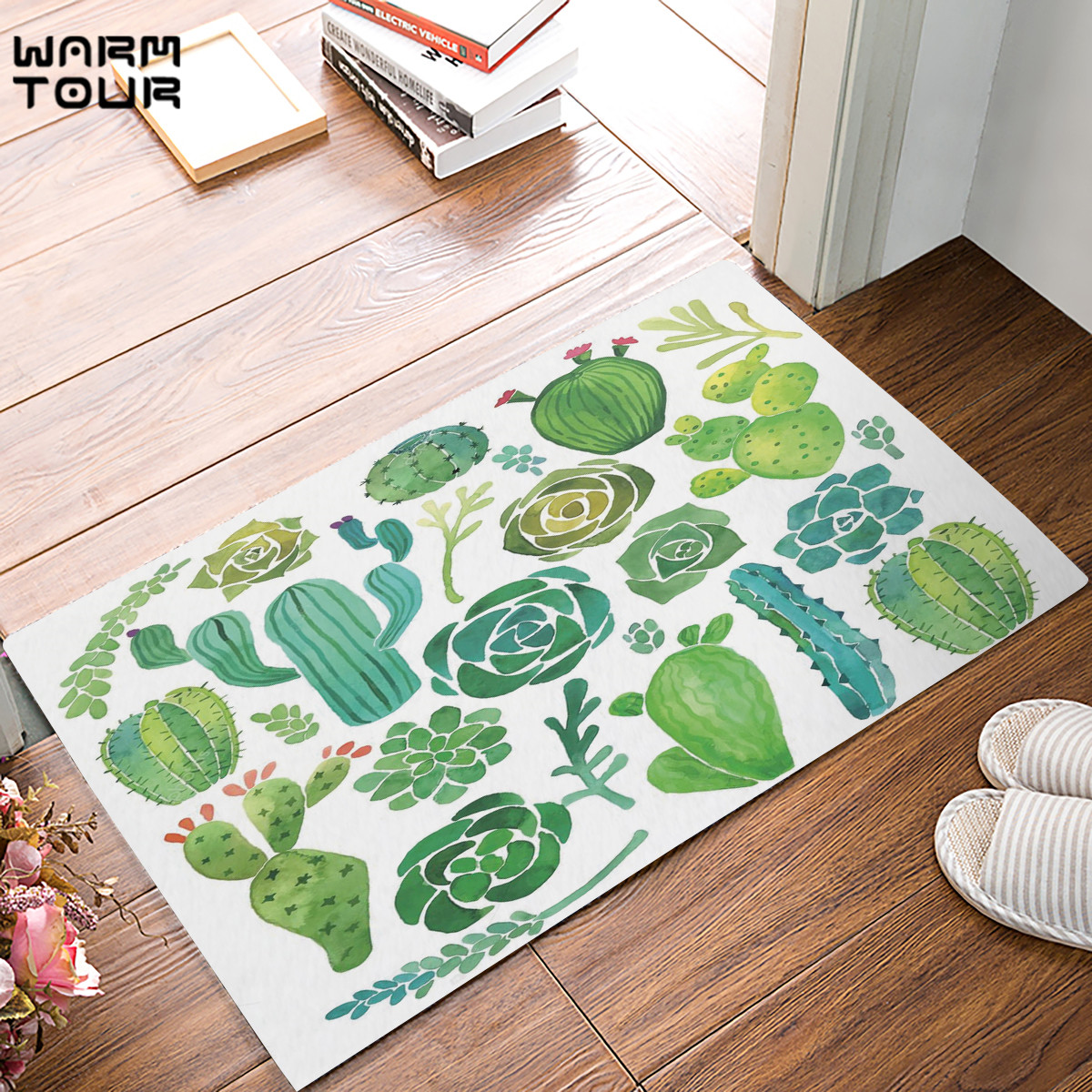 Garden Decor Nutty Rug: Aliexpress.com : Buy Custom Machine Watercolor Cactus Door