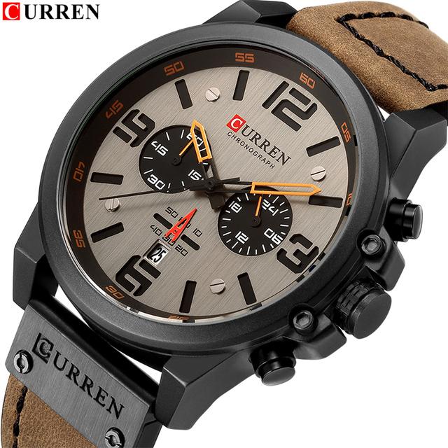 New Men Watch CURREN Top Brand Luxury Mens Quartz Wristwatches Male Leather Military Date Sport Watches Relogio Masculino 8314