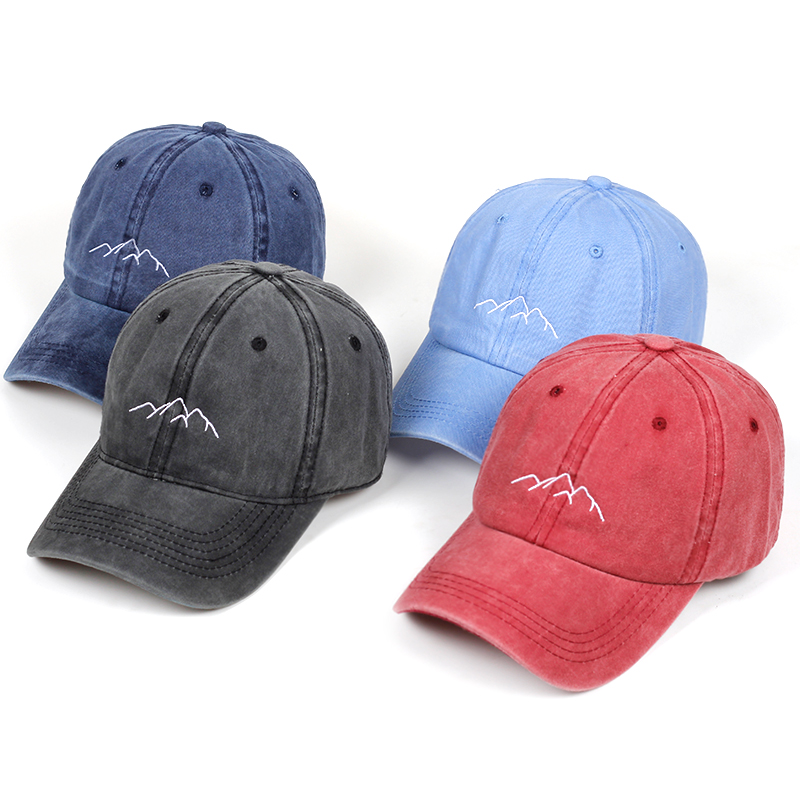 2019 new Mountain range embroidery dad hat Mens Womens   Baseball     Caps   Adjustable Snapback   Caps   Washed dad   cap   bone garros