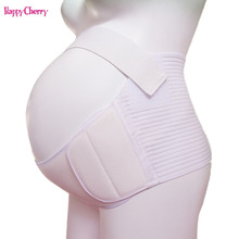Happy Cherry Cotton Pregnant Woman Prenatal Corset Belt Pregnancy Support Postpartum Bandage 2 Colors Maternity