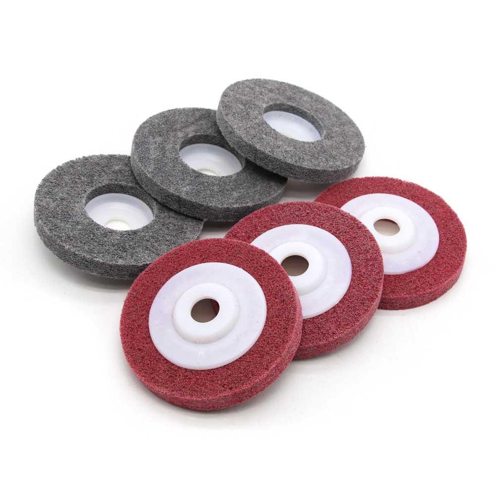 Нетканые полировки колеса для металла нержавеющая сталь польский и удаления ржавчины черный и красный цвет угловая шлифовальная машина ин...
