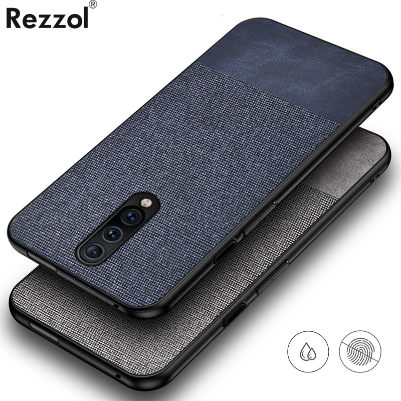 For Oneplus 7 Pro Case Cloth Fabric Silicone Soft Edge Protect Case OnePlus 7 Case One Plus 7 Pro Cover Rezzol Phone Cases