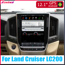 ZaiXi 12.1 Vertical screen android car gps multimedia video radio player in dash for Toyota Land Cruiser LC200 2016~2019