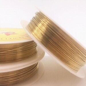 Оптовая продажа 0,2/0,3/0,4/0,5/0,6/0,7/0,8/1,0 мм медные провода из латуни бисерная проволока для изготовления ювелирных изделий золотого цвета