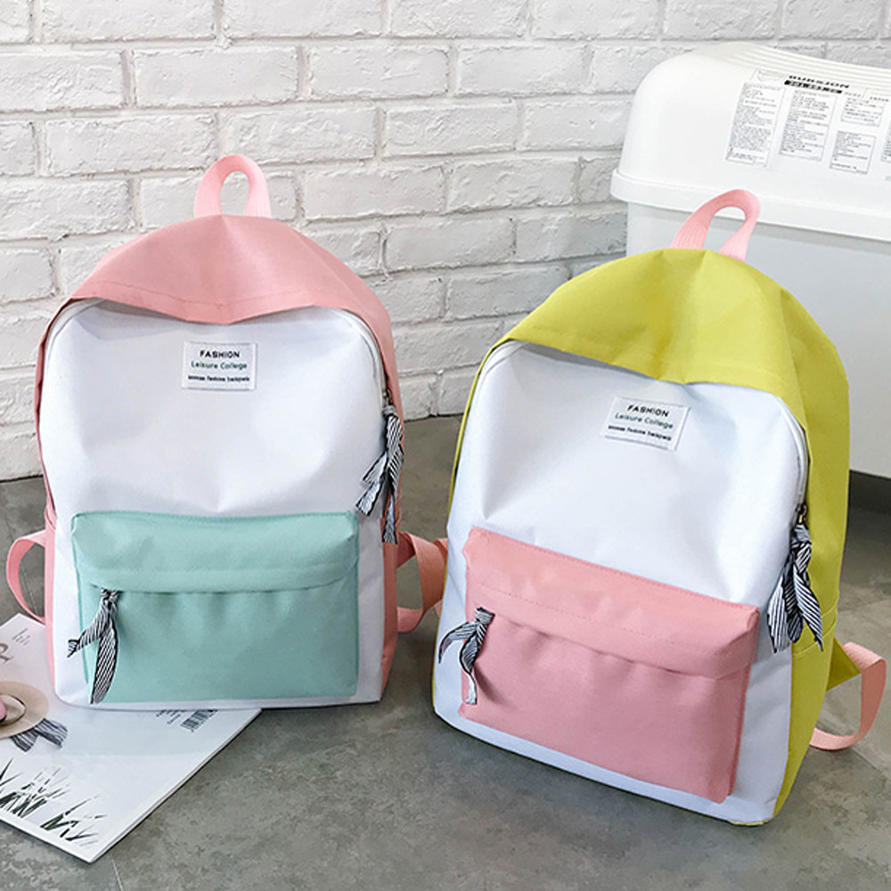 Couple Schoolbag Travel Hiking Bag Color Block Backpack Collection Luminous Bag backpack schoolbag teenage#15(China)