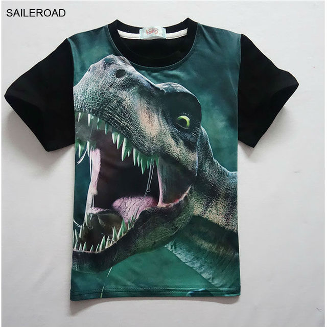 4-11Years Old Children Kids Shorts Tops Tees T Shirt Summer Teenager Boys Girls T-Shirt For Dinosaur Summer Shirts SAILEROAD