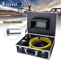 Eyoyo WP70A 7LCD 23mm 30M Wall Drain Sewer Pipe Line Inspection 1000TVL System CCTV Cam Snake Inspection Color HD Sapphir Glass