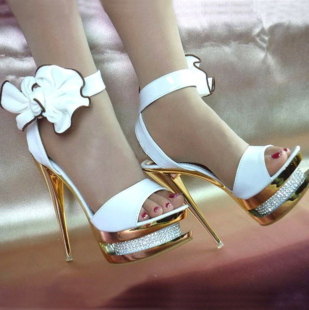 974fb1b6ba875 Sapatos femininos womens wedding shoes white pumps female sexy high heels  open toe butterfly party shoes
