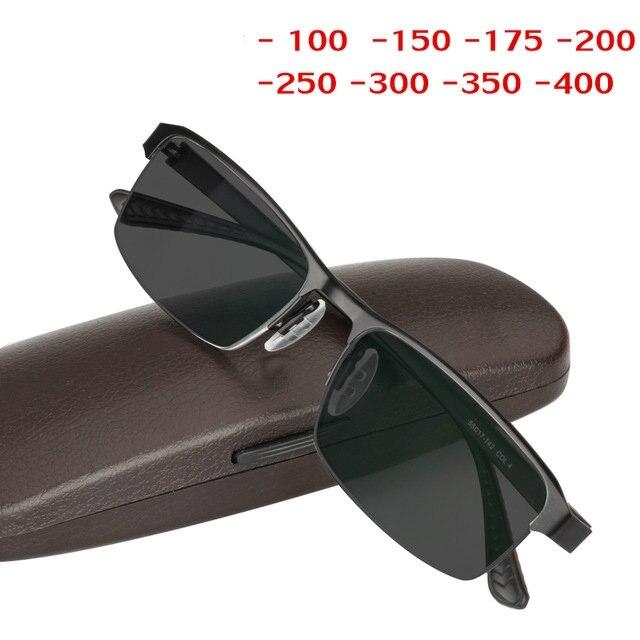 07cdfac37bc1 New finished glasses myopia optical men sun photochromic students gray  glasses half frame prescription glasses uv400