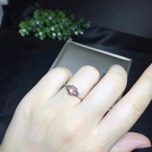 Image 2 - Natürliche mondstein ring, blau brillanz, 925 silber einfache und exquisite, klein und niedlich