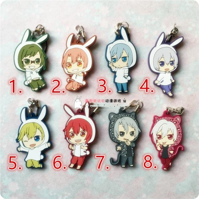 IDOLiSH7 GAME TRIGGER Re: vale Animal Version Japanese Rubber Keychain vale music fest 2017 green card 7 dias