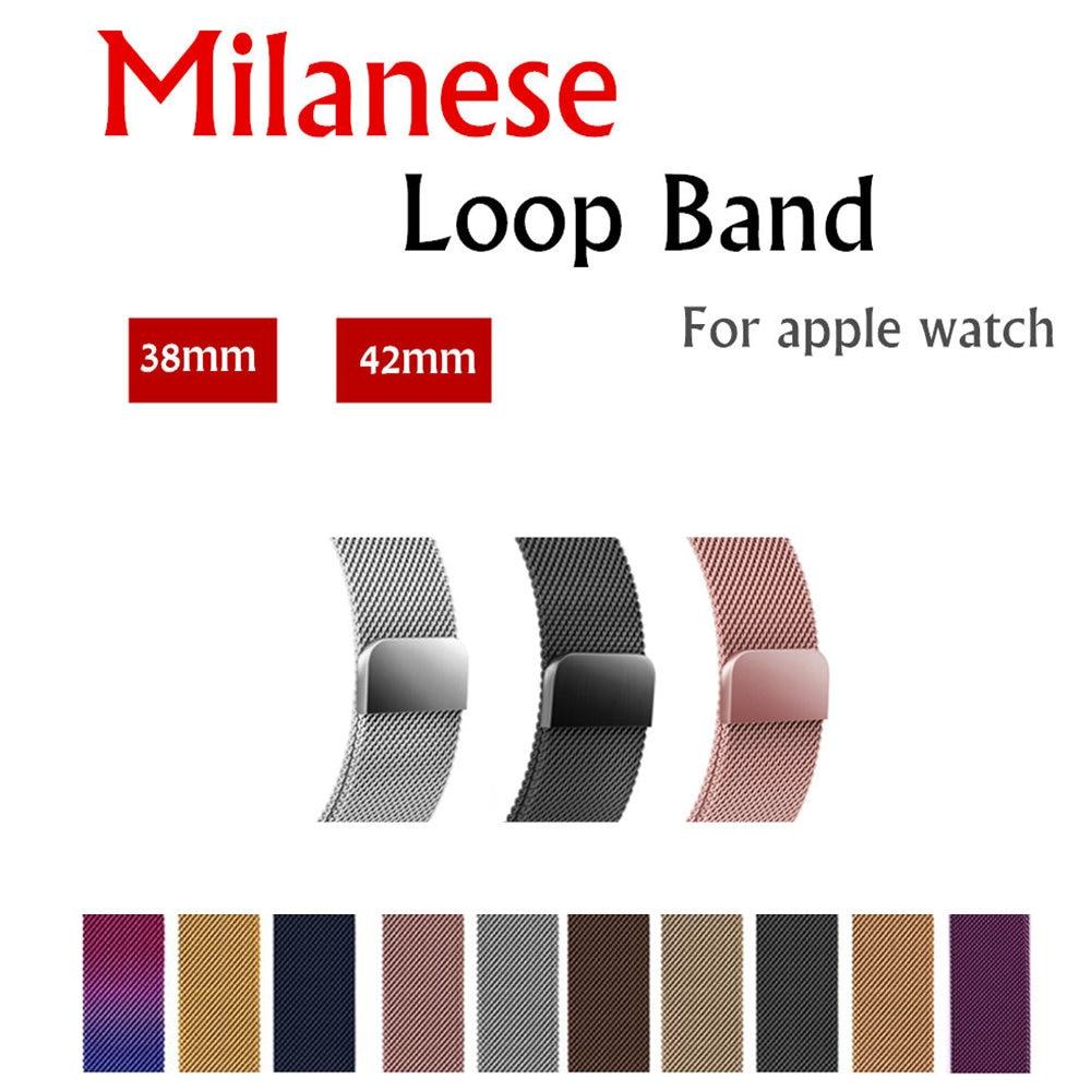 Milanese Loop Per Apple Watch band strap 42mm/38mm iwatch 3/2/1 In Acciaio Inox collegamento Del Braccialetto da polso cinturino fibbia magnetica