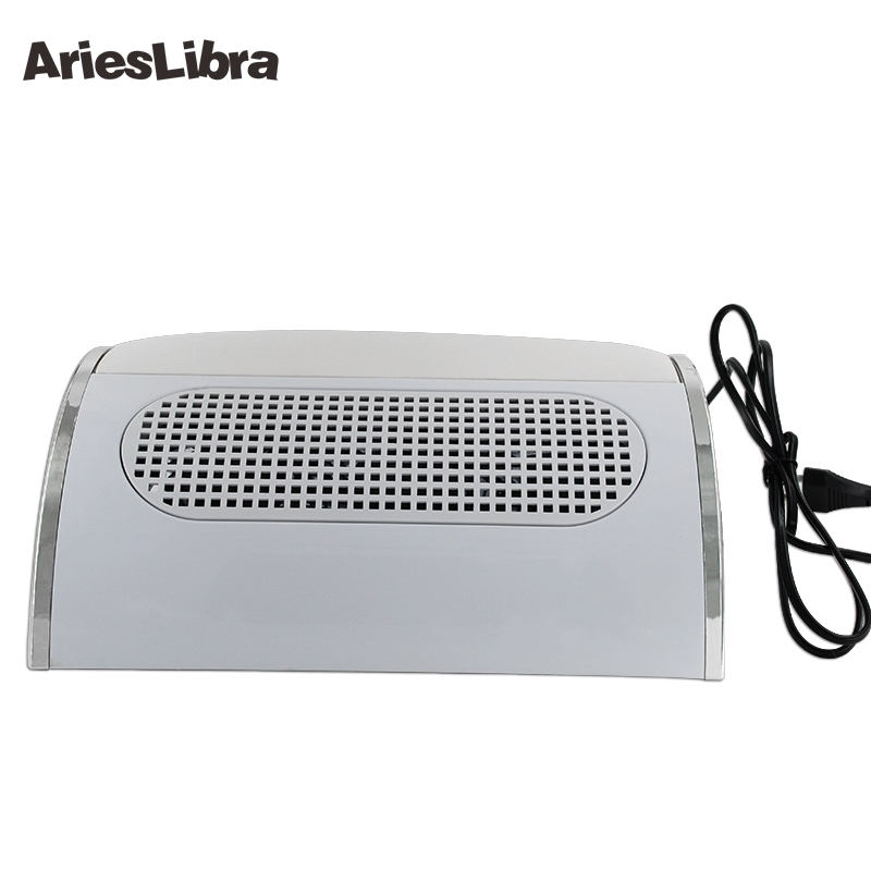 Arieslibra 1pc Nail Dust Suction Collector with 3 Fan Vacuum Cleaner Stainless Steel Manicure Clean Tools