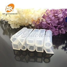 10 Design Transparent Silicone Mould of Dried Flower Resin Decorative Craft DIY arc ring mold resin molds for Jewelry(China)