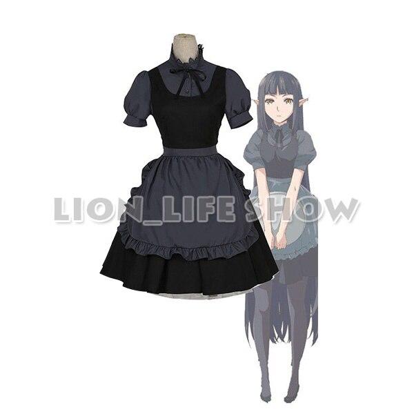 Restaurant to Another World Aletta Cosplay Costume Kuro Japan Maid Dress Uniform