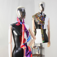 Clothes Store Window Display Mannequin Electroplating Mannequin Head Adjustable Wood Arms Half Body Female Fabric Mannequin