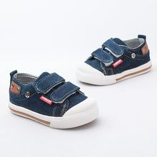 Children in the autumn of 2017 new dark blue canvas high quality men and women sneakers shoes children shoes boys