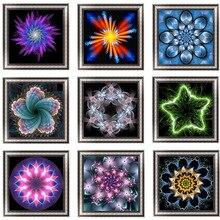 Round Resin Rhinestone Diamond Drawing 5D  Embroidery Fantasy Flower Cross Stitch Mosaic Painting