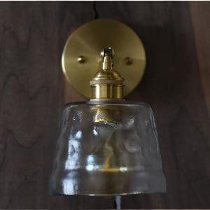Image 4 - Frosted gehamerd glas wandkandelaar licht handgemaakte nordic kristallen eetkamer hotel bar restaurant luxe koper messing cafe lamp
