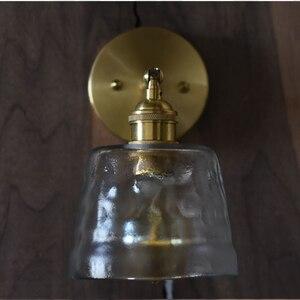 Image 4 - Glassato martellato vetro riparo della parete fatta a mano di cristallo nordic sala da pranzo bar dellhotel ristorante di lusso di rame in ottone lampada cafe
