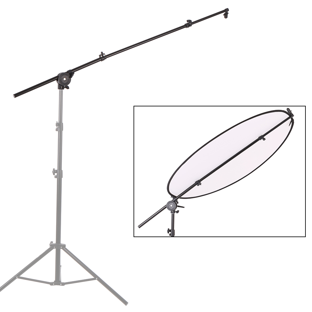 Holder Stand Extendable Photo Studio Photography Reflector Diffuser Boom Arm Support with Clip Swivel Grip Clamp
