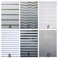 60x100cm window film frosted glass film office studio meeting room glass decoration glass barrier translucent stripe stickers