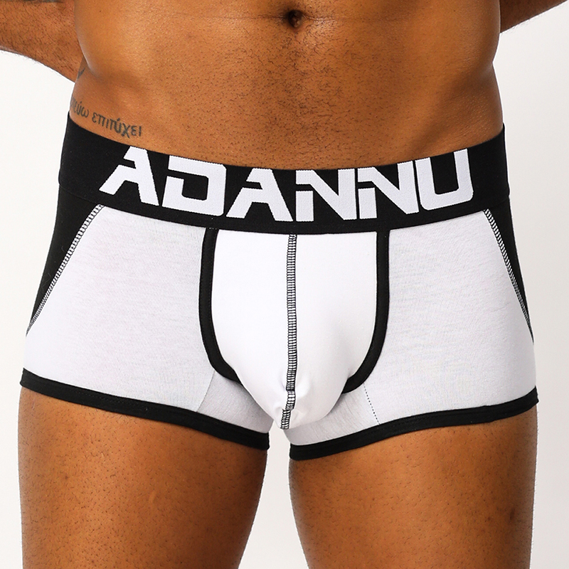 ADANNU Men Underwear Sexy Gay Ass Freedom Jockstrap Sissy Panties Non Back Jock Strap Thongs Breathable Men String Pouch AD161