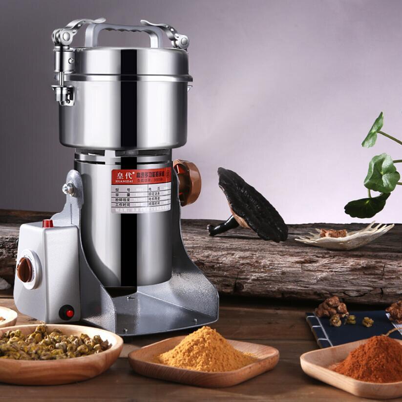 800g Mühle Pulver Maschine Körner Gewürze Kaffee Trockenen Lebensmittel Mühle Schleifen Maschine Gristmill Hause Medizin Mehl Pulver Brecher