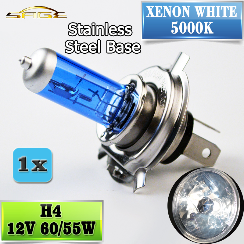 flytop H4 Halogen Lamp 12V 60/55W 5000K HeadLight Bulb Xenon Dark Blue Glass Car Light Super White napapijri guji check dark blue