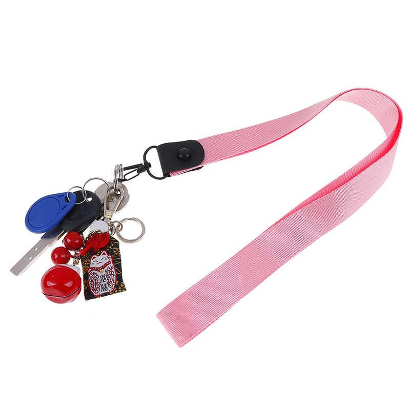Brelok Tag Strap paski na szyję smycze na klucze ID Card Pass Gym usb do telefonu komórkowego pokrowiec na karty DIY ozdobny pasek
