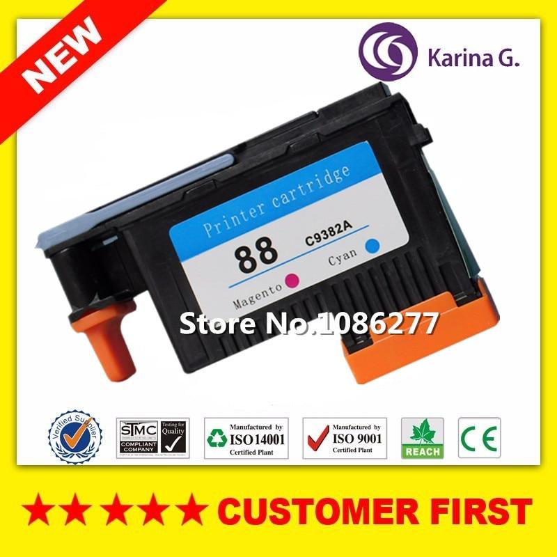 1PCS for hp88 print head Magenta&Cyan compatible for HP 88 C9382A K5300/K5400/L7780/L7880/ 8600/8600dn картридж для принтера nv print для hp cf403x magenta