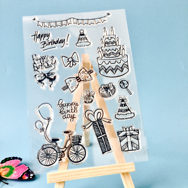 Birthday Cake Clear Stamps Card Making Festival Wedding For Sbooking Photo Al Transpa Diy Crafts